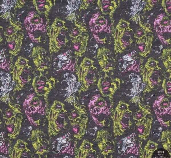 Zombie faces - twirl skirt