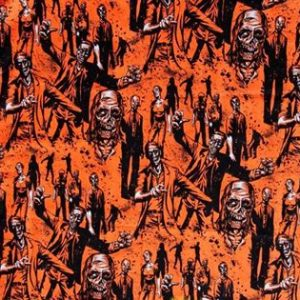 zombies - orange - twirl skirt