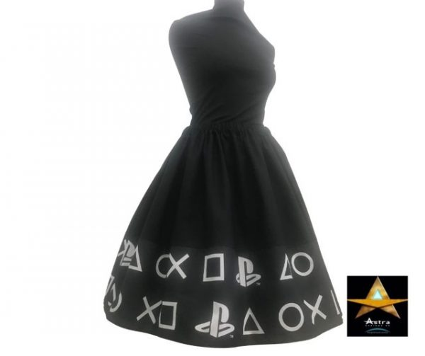 Playstation twirl skirt side view