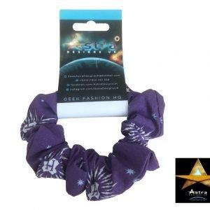 Hogwarts purple scrunchie