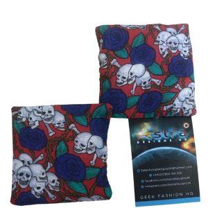 Skulls and roses hand warmer set