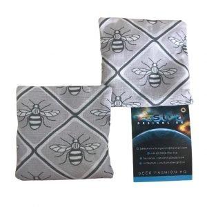 Bees grey hand warmer set